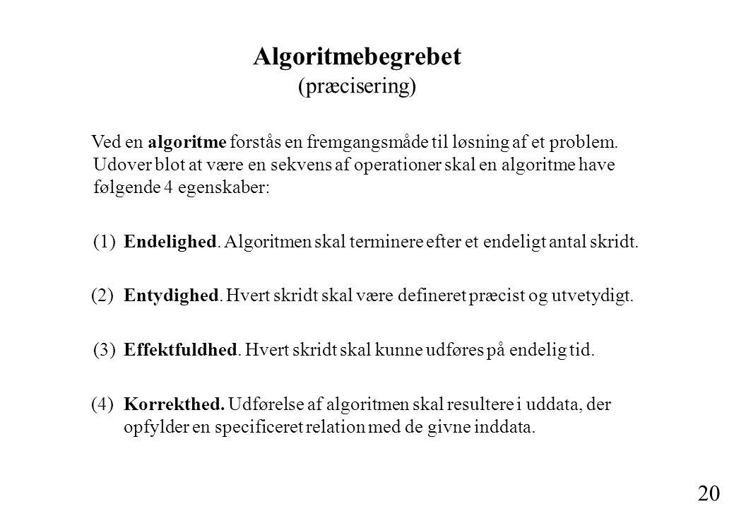 Algoritmebegrebet (præcisering)