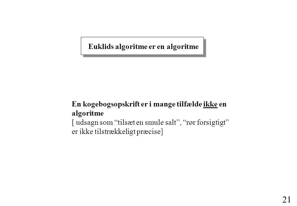 Euklids algoritme er en algoritme