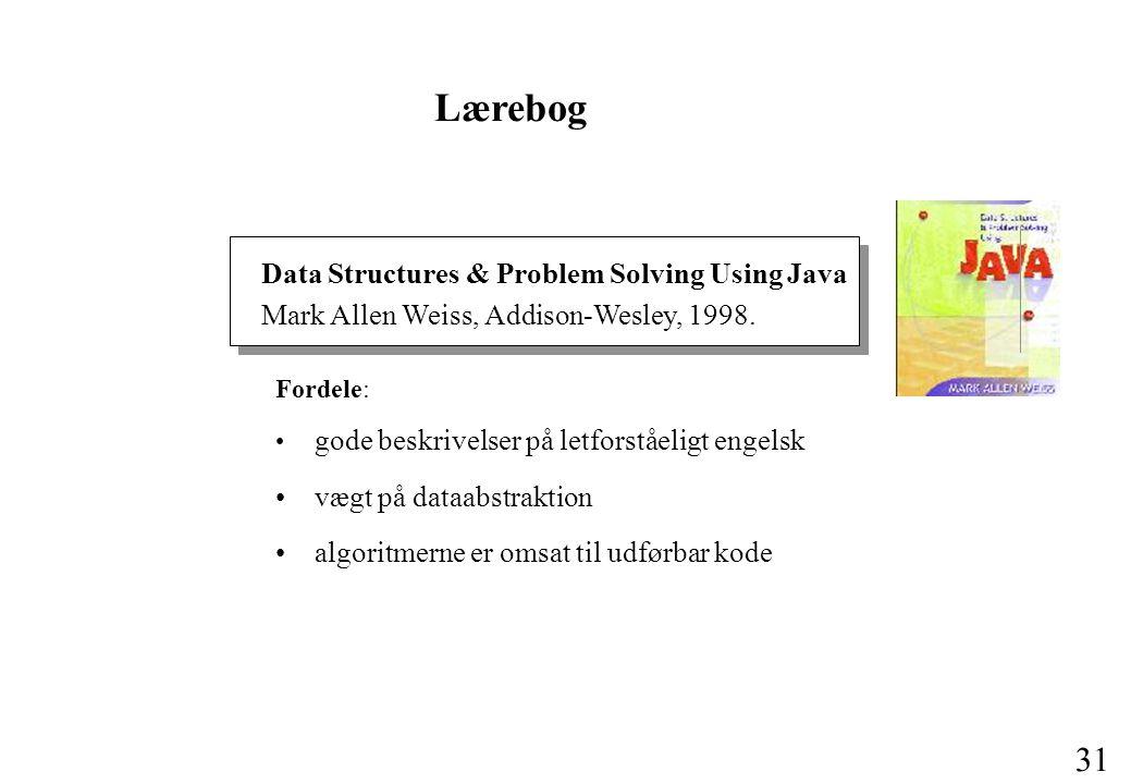 Lærebog Data Structures & Problem Solving Using Java