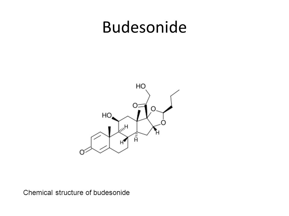 Budesonide Chemical structure of budesonide
