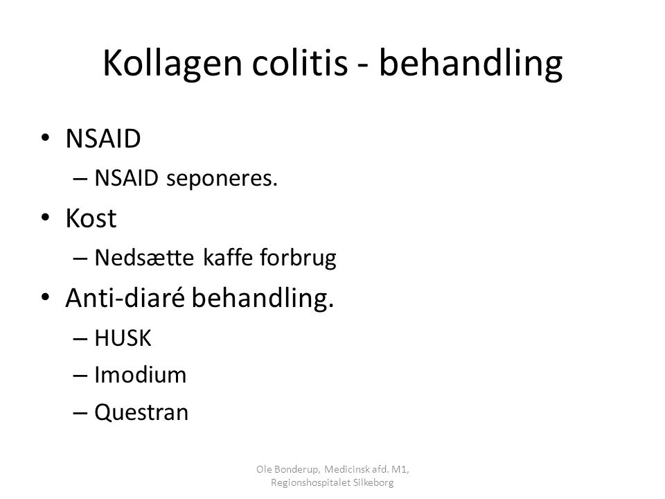 Kollagen colitis - behandling