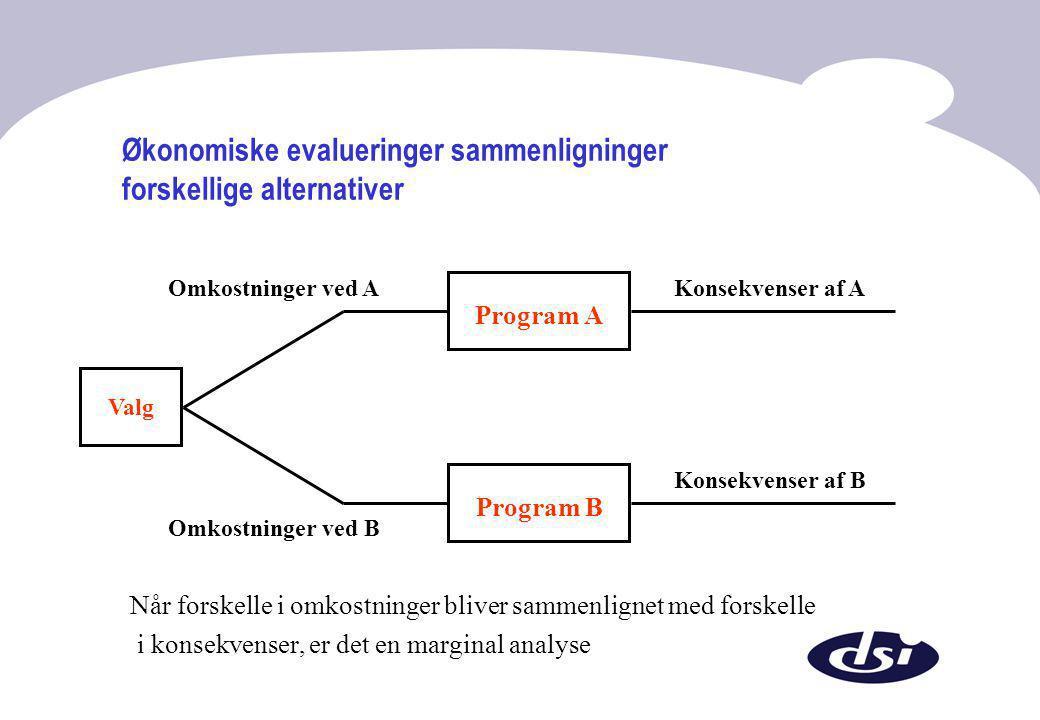 Økonomiske evalueringer sammenligninger forskellige alternativer