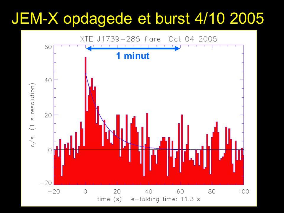 JEM-X opdagede et burst 4/10 2005