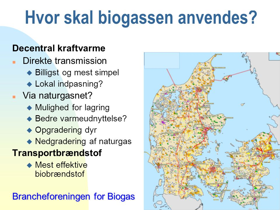 Hvor skal biogassen anvendes