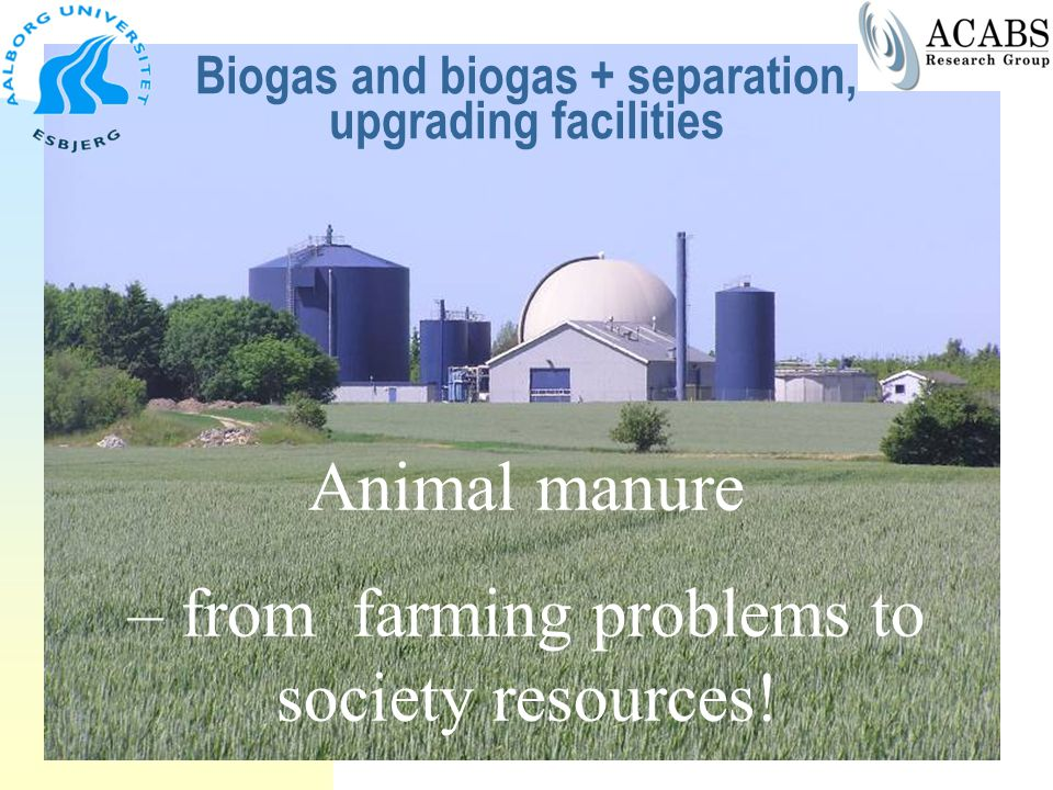 Biogas and biogas + separation, upgrading facilities