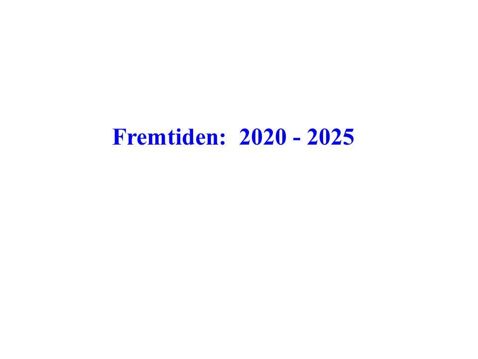Fremtiden: 2020 - 2025