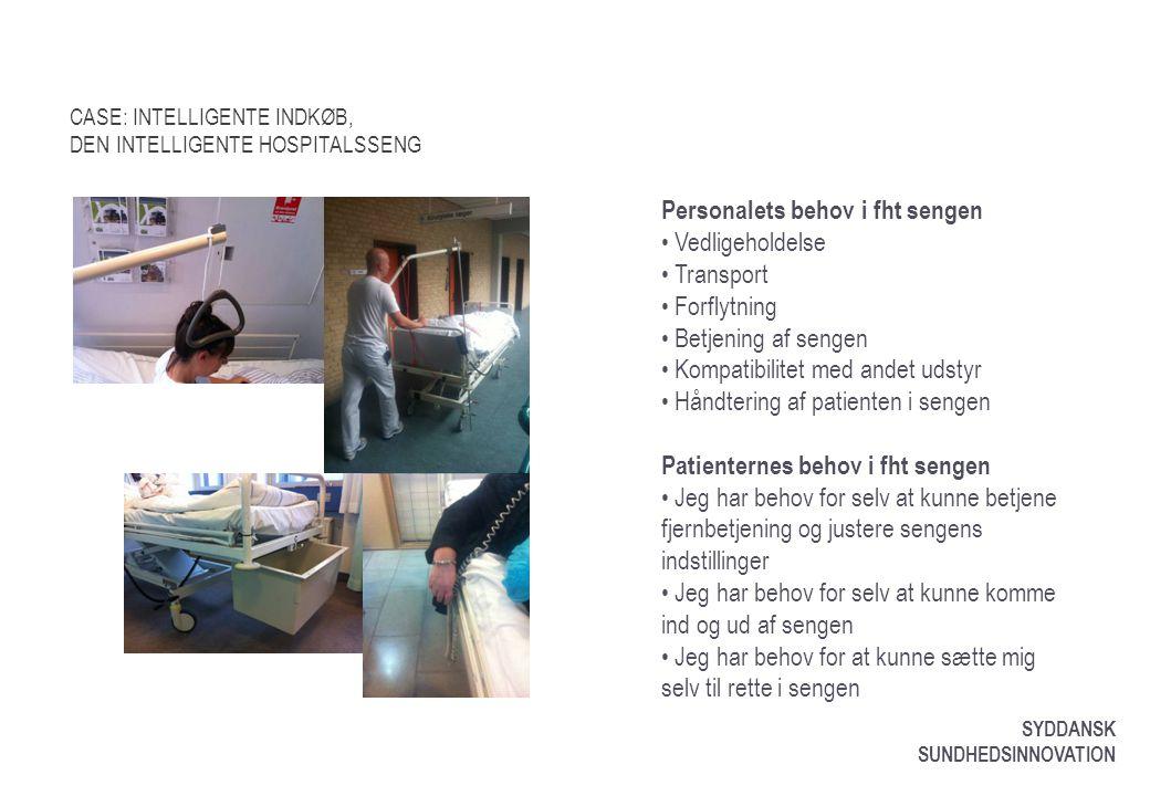 CASE: INTELLIGENTE INDKØB, DEN INTELLIGENTE HOSPITALSSENG