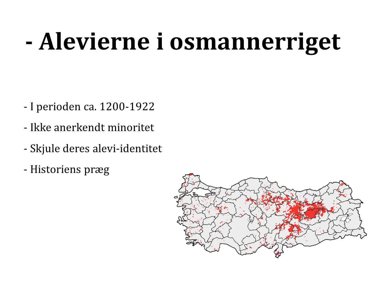 - Alevierne i osmannerriget