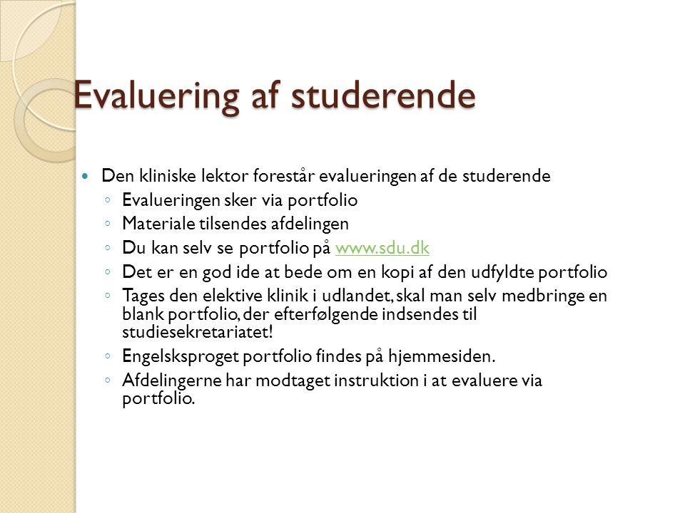 Evaluering af studerende