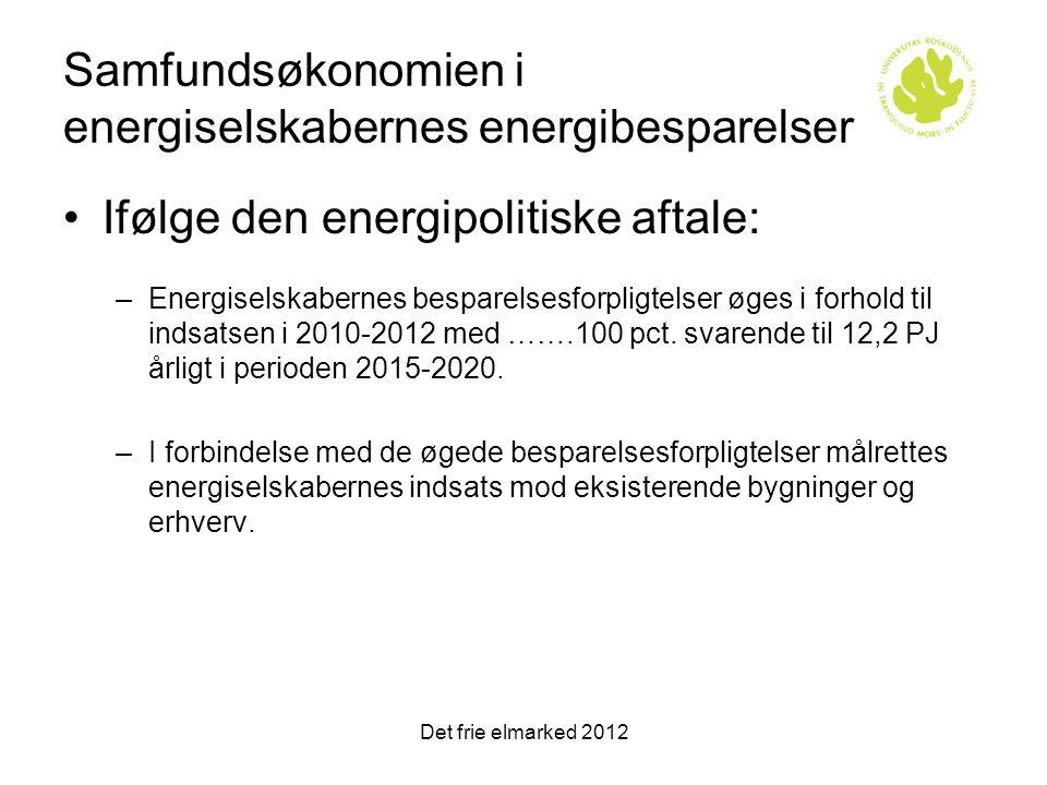 Samfundsøkonomien i energiselskabernes energibesparelser