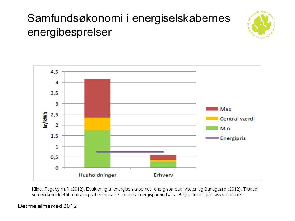 Samfundsøkonomi i energiselskabernes energibesprelser