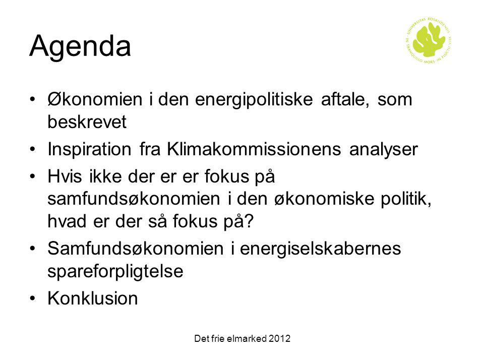 Agenda Økonomien i den energipolitiske aftale, som beskrevet