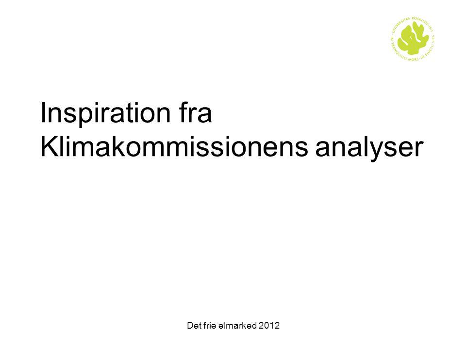 Inspiration fra Klimakommissionens analyser