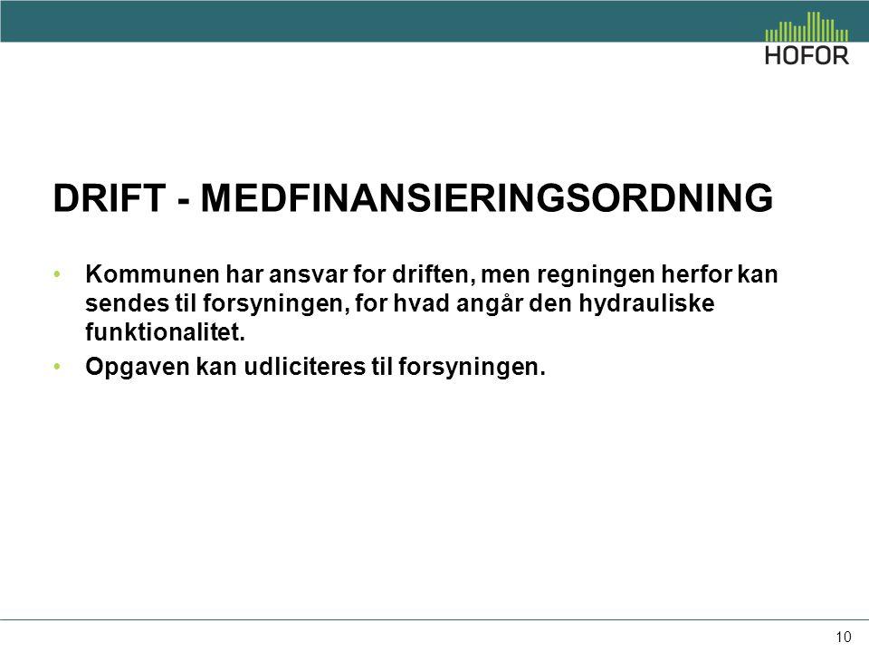 DRIFT - medfinansieringsordning