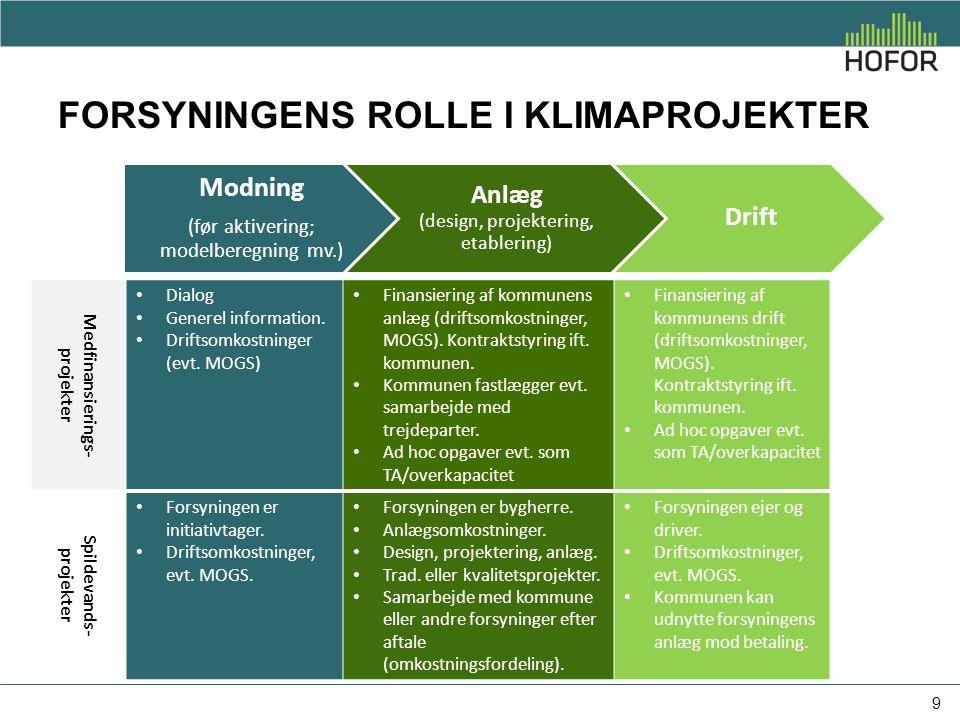 Forsyningens rolle i klimaprojekter