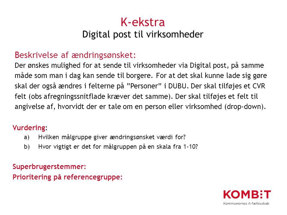 K-ekstra Digital post til virksomheder