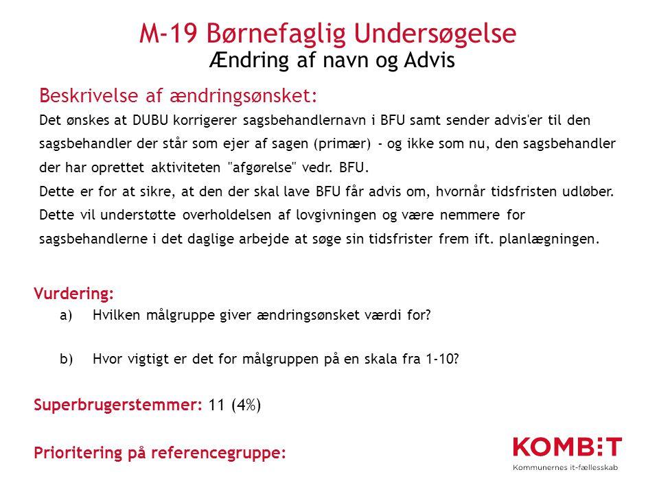 M-19 Børnefaglig Undersøgelse Ændring af navn og Advis
