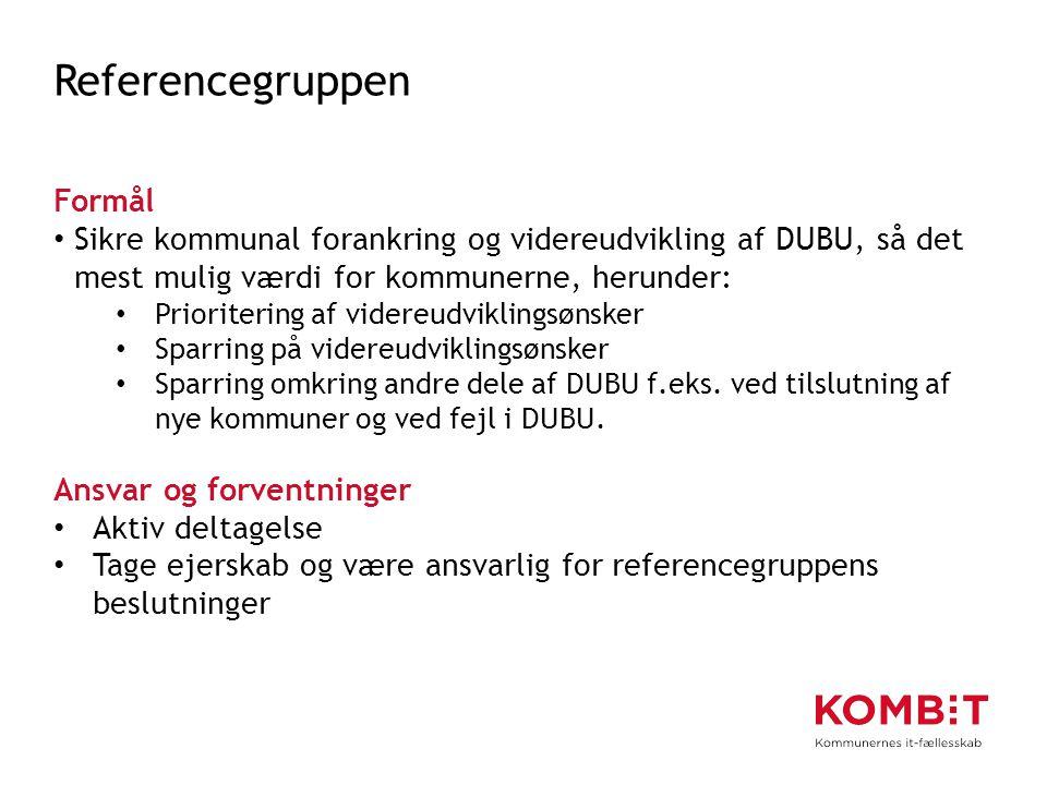 Referencegruppen Formål