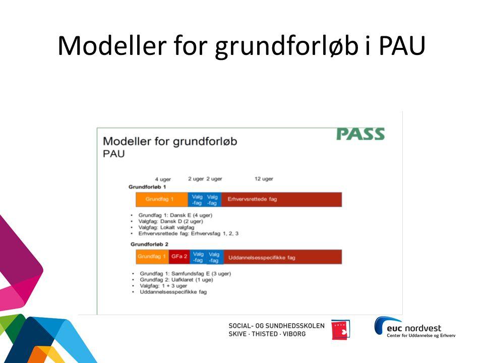 Modeller for grundforløb i PAU