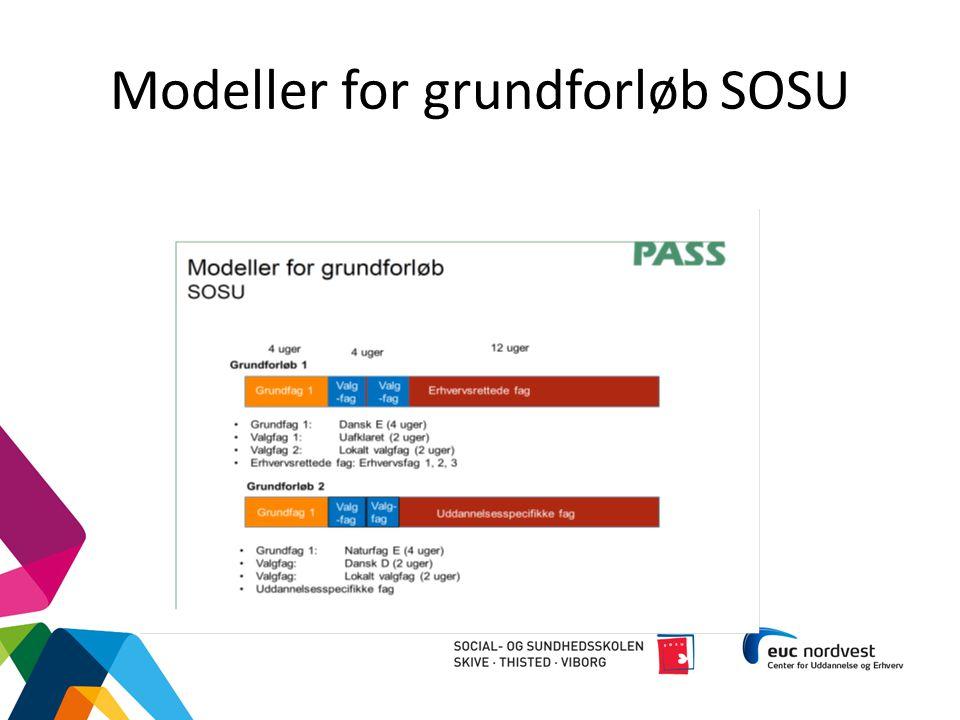 Modeller for grundforløb SOSU