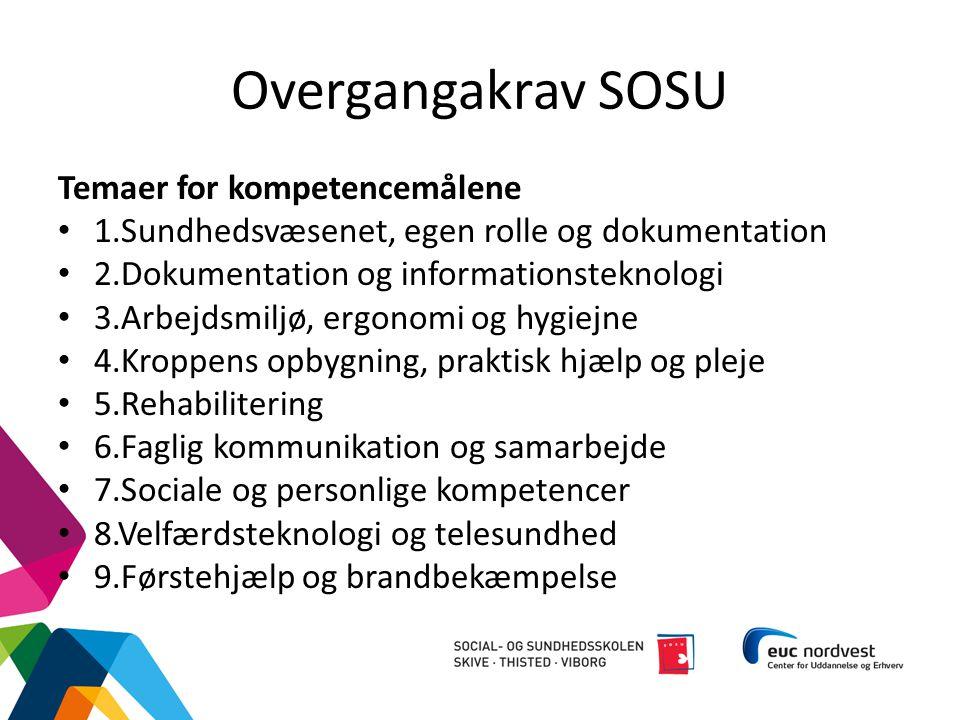 Overgangakrav SOSU Temaer for kompetencemålene