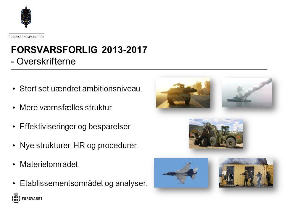 FORSVARSFORLIG 2013-2017 - Overskrifterne