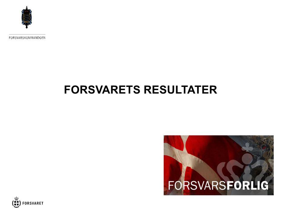 FORSVARETS RESULTATER