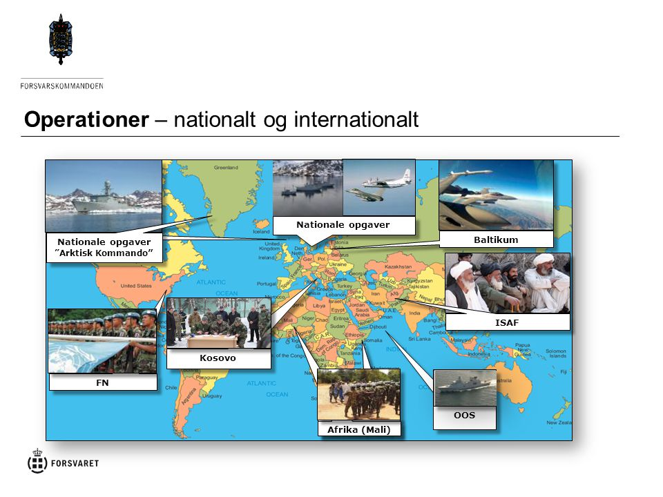 Operationer – nationalt og internationalt