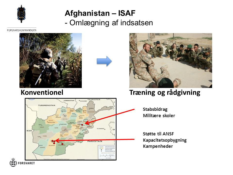 Afghanistan – ISAF - Omlægning af indsatsen
