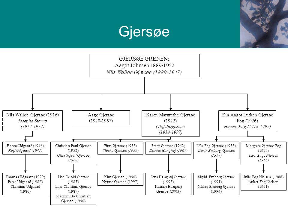 Gjersøe Grenen Gjersøe GJERSØE GRENEN: Aagot Johnsen 1889-1952