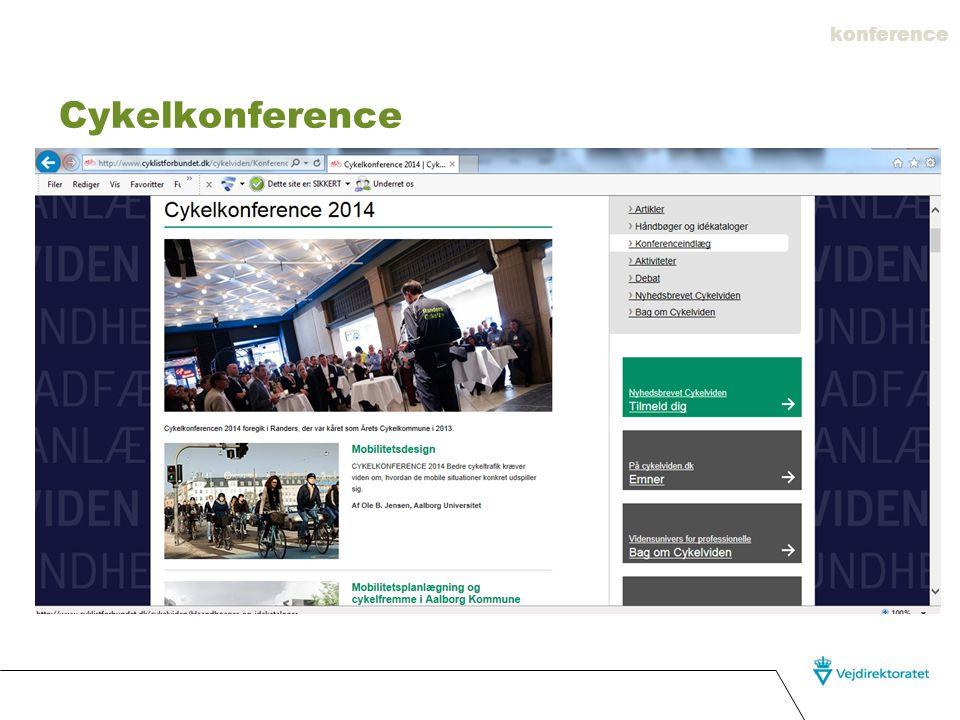 konference Cykelkonference