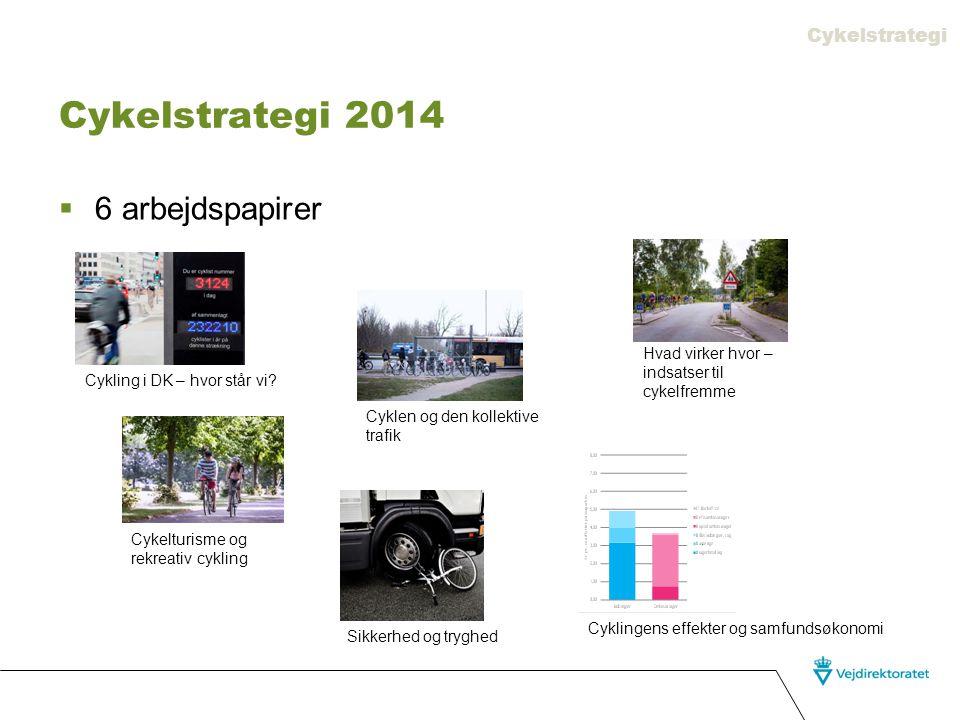 Cykelstrategi 2014 6 arbejdspapirer Cykelstrategi
