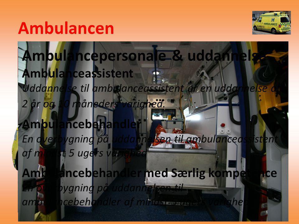 Ambulancen Ambulancepersonale & uddannelse Ambulanceassistent