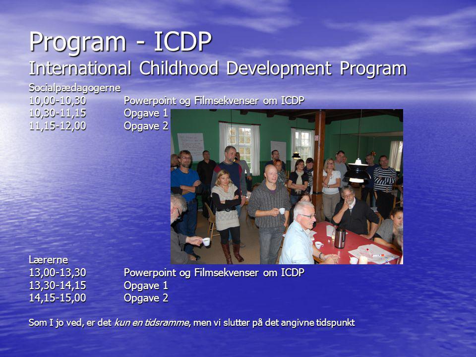 Program - ICDP International Childhood Development Program