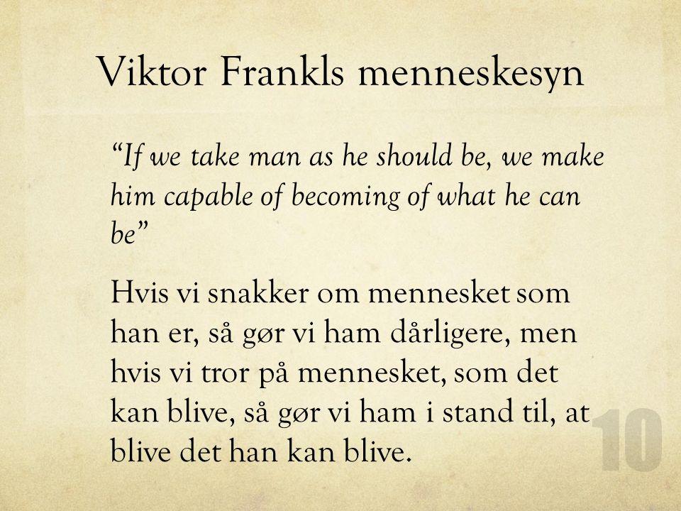 Viktor Frankls menneskesyn