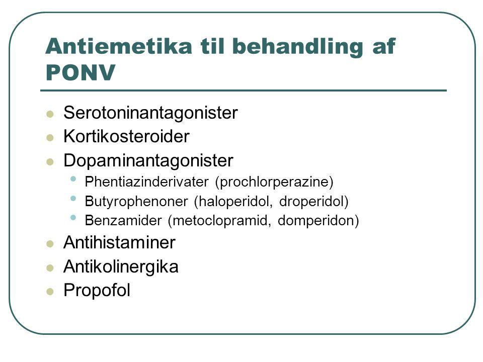 Antiemetika til behandling af PONV