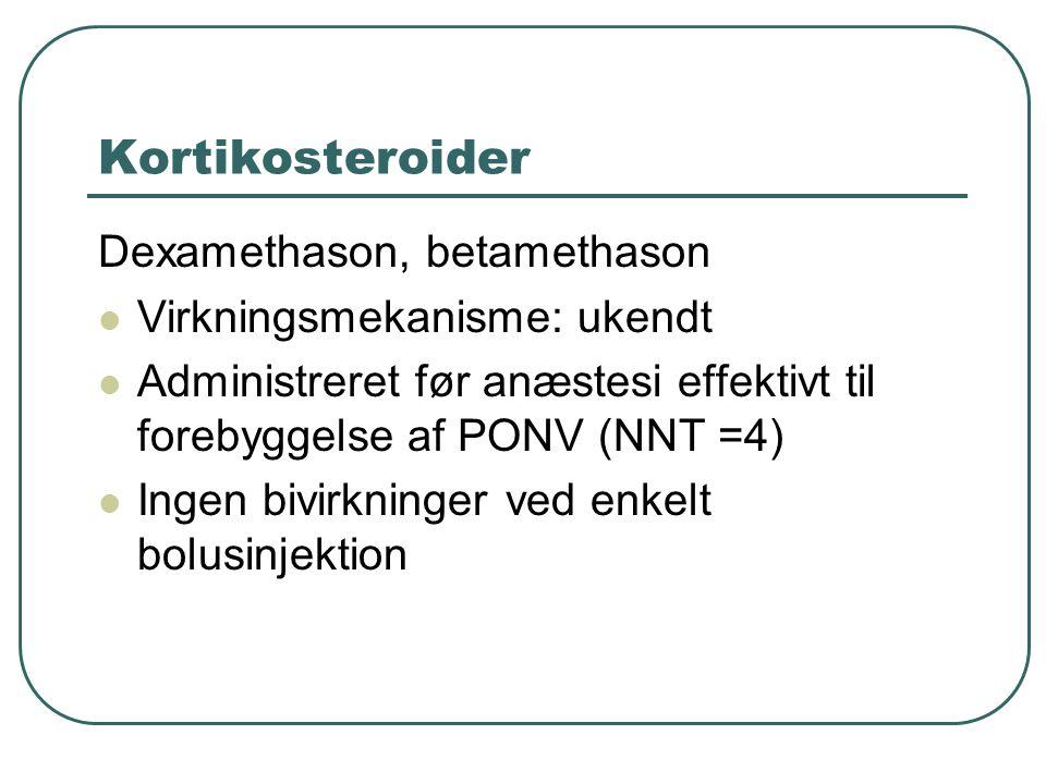 Kortikosteroider Dexamethason, betamethason Virkningsmekanisme: ukendt