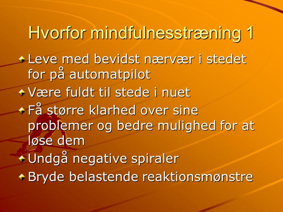 Hvorfor mindfulnesstræning 1