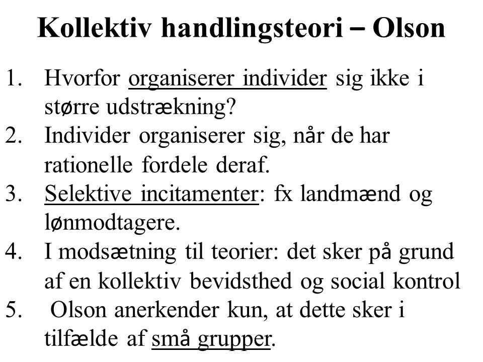 Kollektiv handlingsteori – Olson