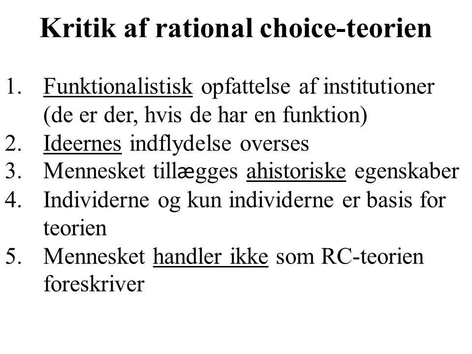 Kritik af rational choice-teorien