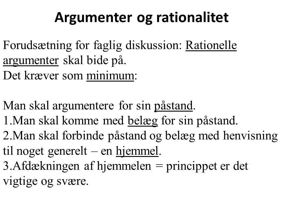Argumenter og rationalitet