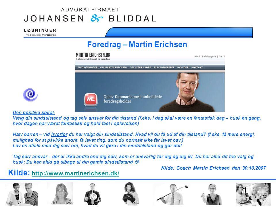 Foredrag – Martin Erichsen