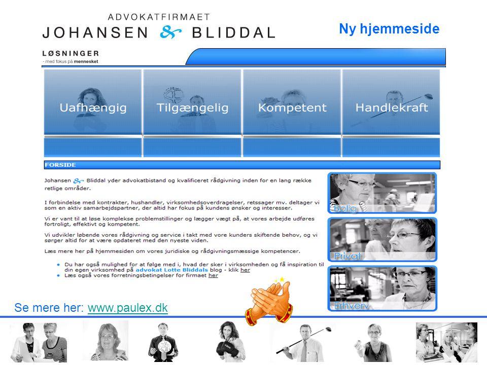 Ny hjemmeside FORSIDE Se mere her: www.paulex.dk