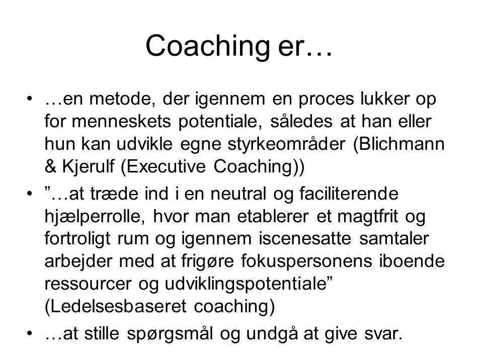 Coaching er…
