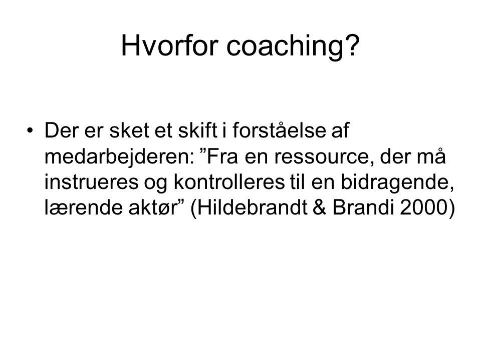 Hvorfor coaching