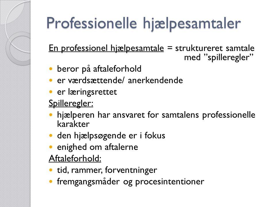 Professionelle hjælpesamtaler
