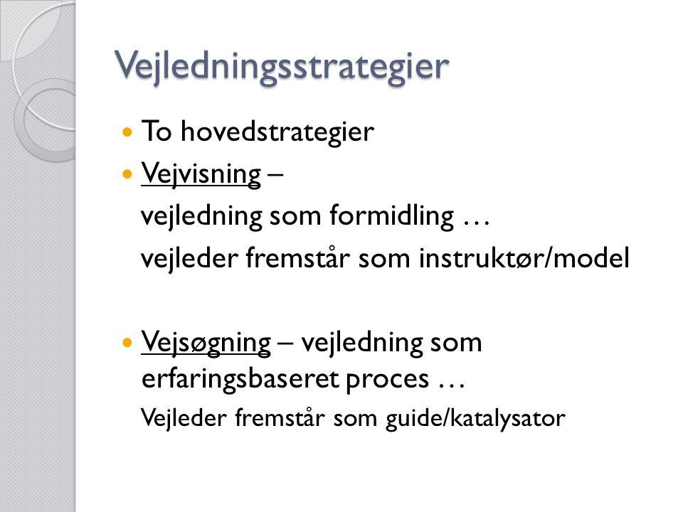 Vejledningsstrategier