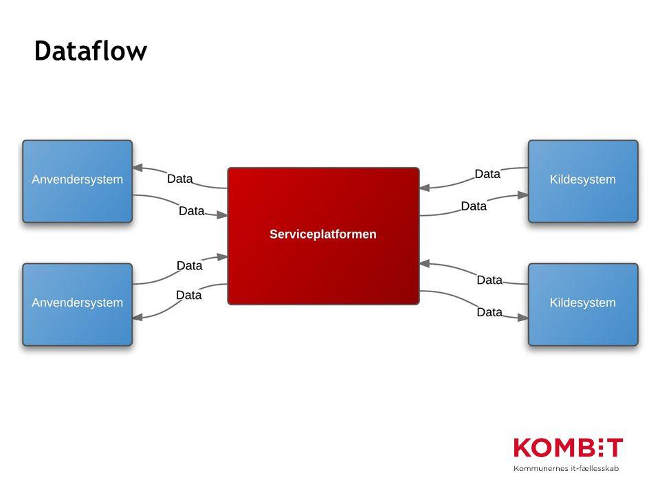 Dataflow Bemærk: Ethvert system kan både være et anvender- og et kildesystem.