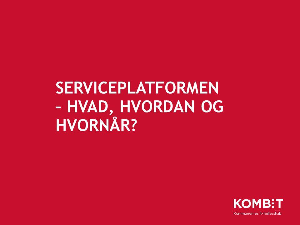 Serviceplatformen – hvad, hvordan og hvornår