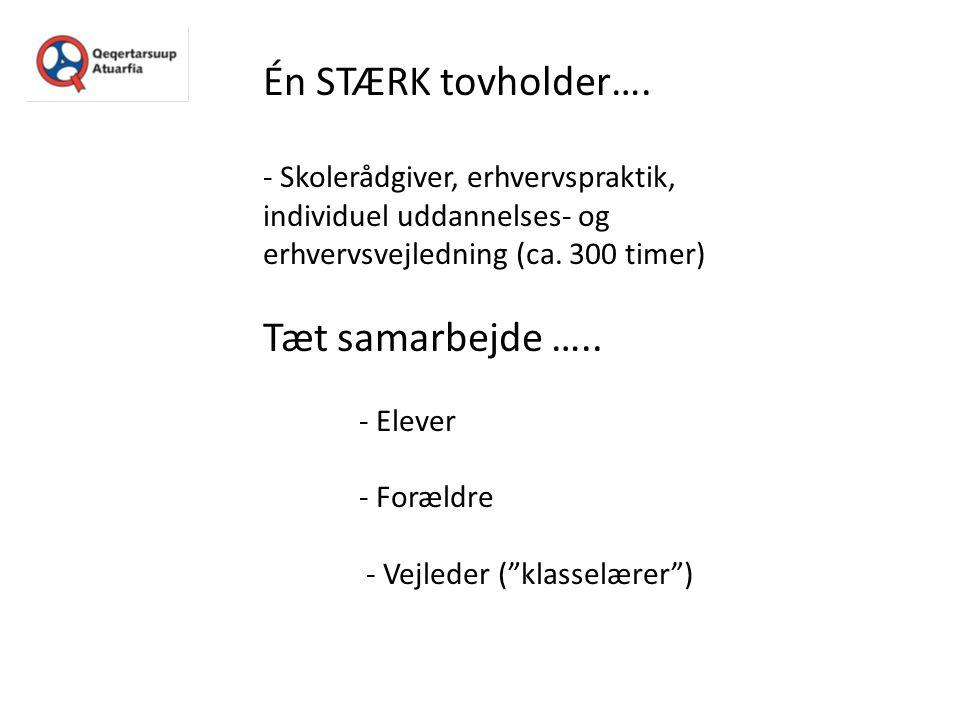 Én STÆRK tovholder…. Tæt samarbejde …..